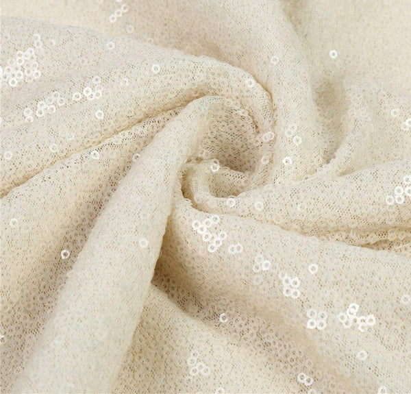 Ivory Sequin Rectangular Tablecloth