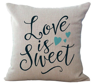 """Love Is Sweet"" Cushion Cover"