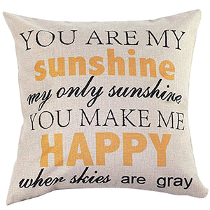 "Cheerful ""Sunshine"" Cushion Cover"