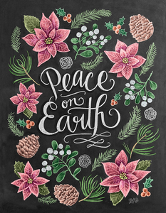 """Peace On Earth"" Blackboard Diamond Art Kit - Fancier Living"