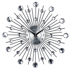 Luxury Diamond Starburst Wall Clock - Fancier Living