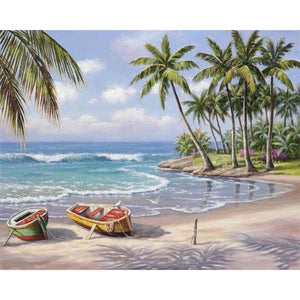 Scenic Seascape Paint by Number Kit - Fancier Living