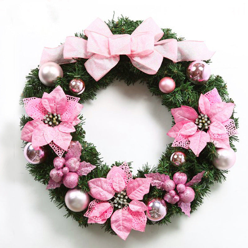 Glamorous Pink Floral Christmas Wreath - Fancier Living