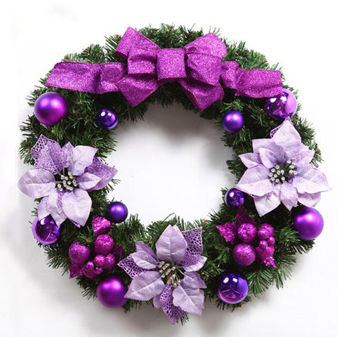 Glamorous Purple Floral Christmas Wreath - Fancier Living