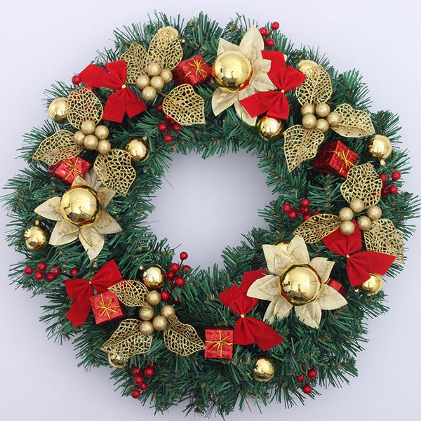 Ornate Christmas Gift Decorative Wreath - Fancier Living