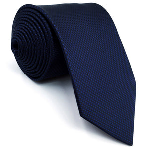 Classic Navy Silk Necktie and Matching Pocket Square - Fancier Living
