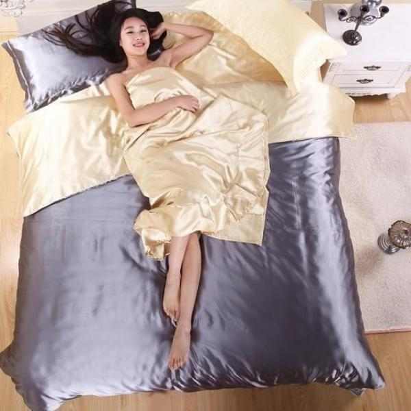 Luxury 4 Piece Satin Bedding Set - Fancier Living