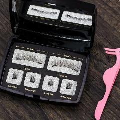 6 Piece Magnetic Eyelash Gift Set - Fancier Living