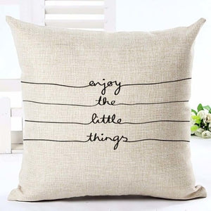 """Enjoy The Little Things"" Cushion Cover - Fancier Living"