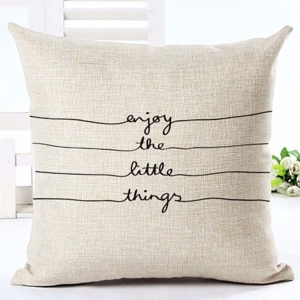 """Enjoy Every Moment"" Cushion Cover - Fancier Living"