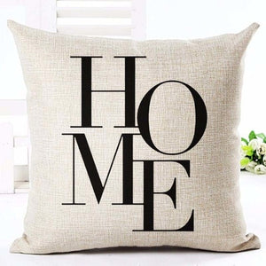 "Beige ""Home"" Rustic Cushion Cover - Fancier Living"