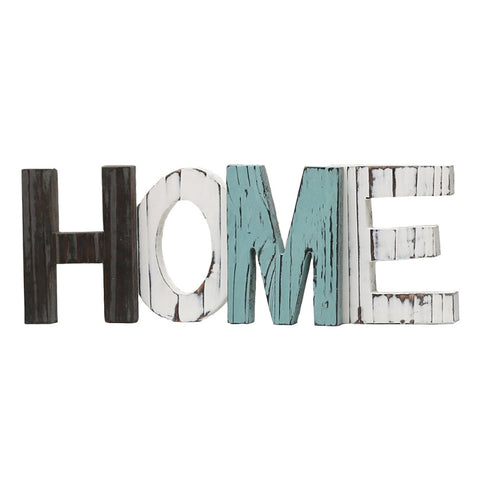 "Shabby Chic Wood Look ""Home"" Decorative Sign - Fancier Living"