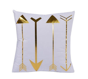 Gold Arrows Decorative Cushion Cover - Fancier Living