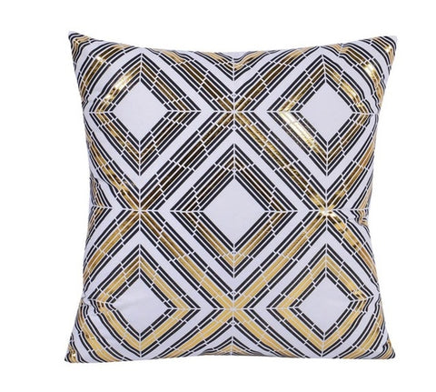 Gold Diamonds Decorative Cushion Cover - Fancier Living