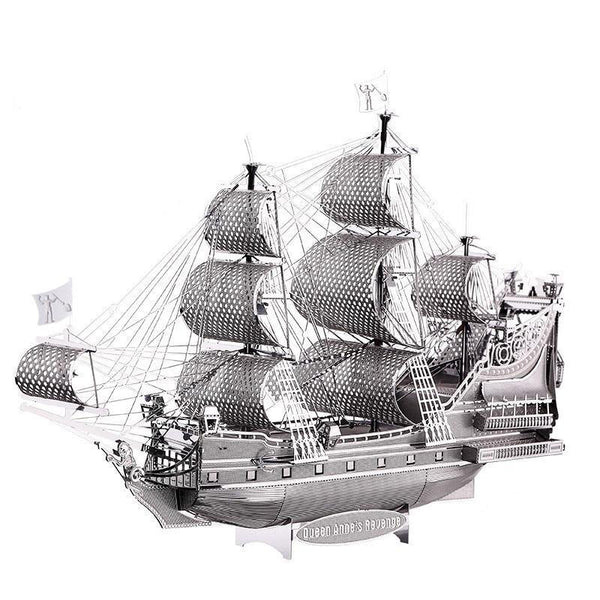 Silver Ship 3D Metal Puzzle - Fancier Living