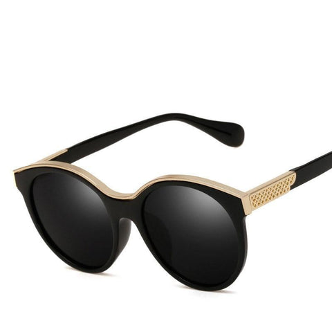 Gold Accented Retro-Chic Sunglasses