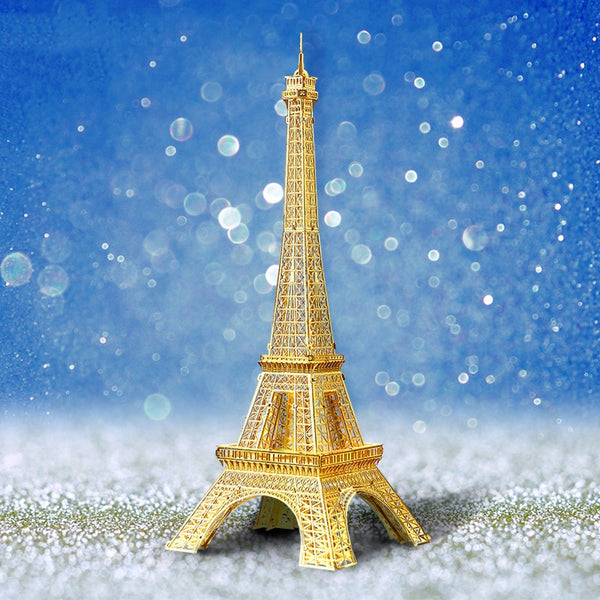 Gold 3D Crystal Puzzle--Eiffel Tower