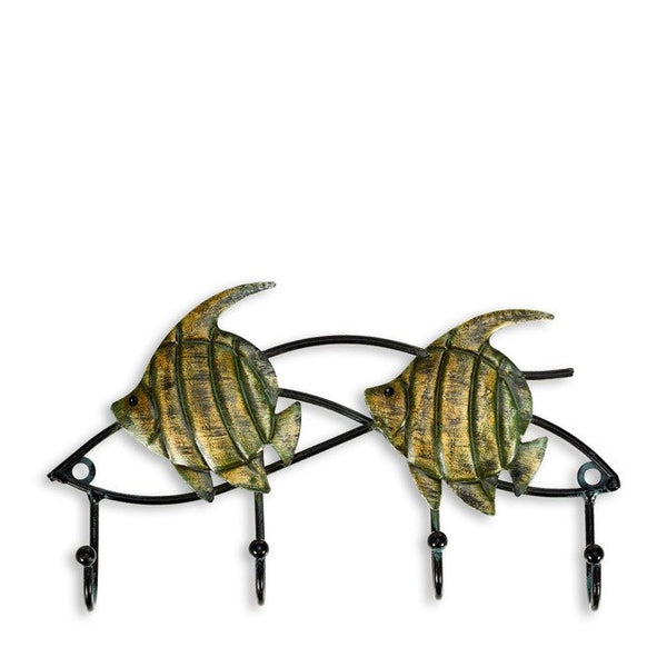 Quirky Cat Iron Art 4 Hook Wall Hanger - Fancier Living