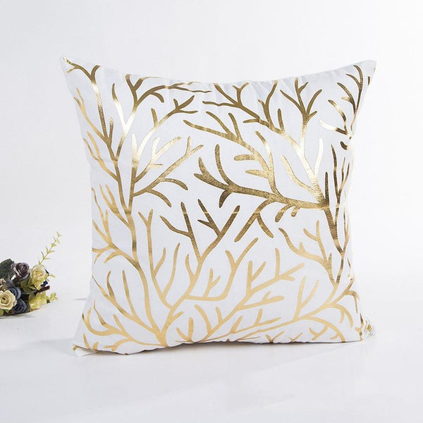 Gold Tree Decorative Cushion Cover - Fancier Living