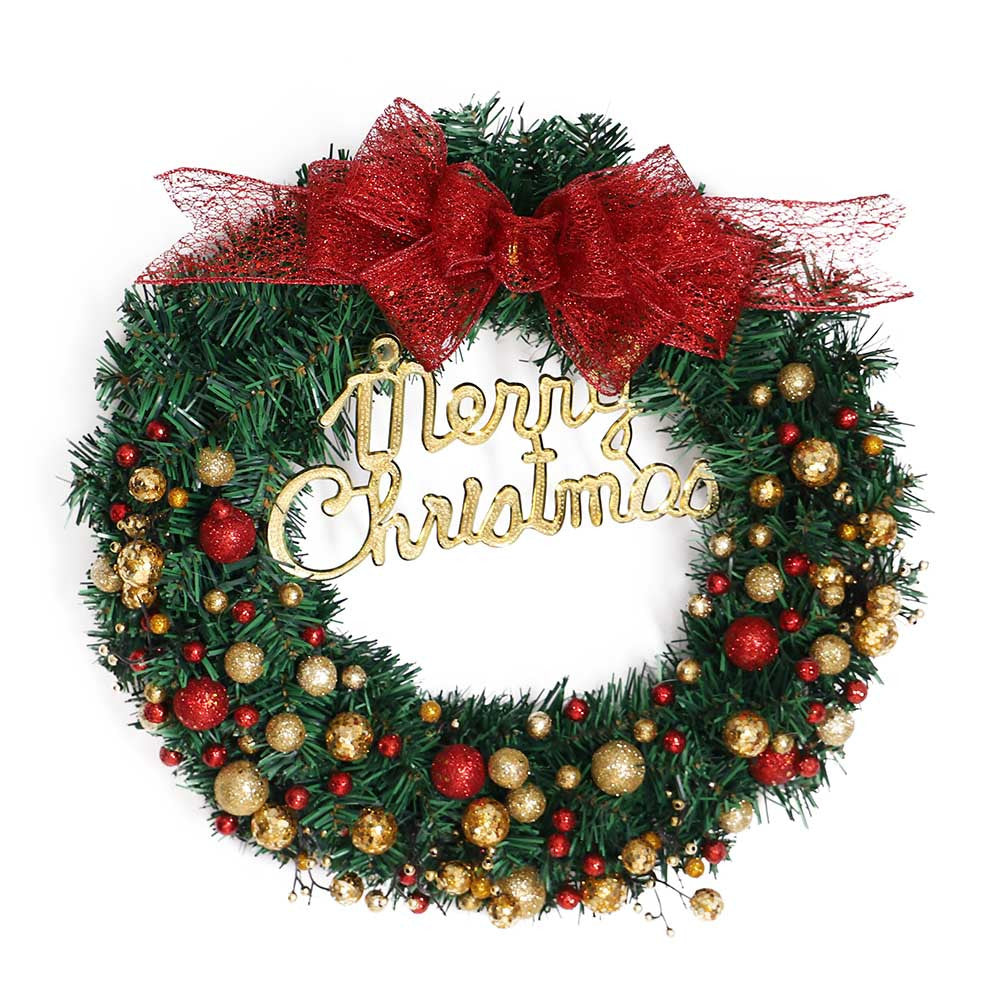 "Cheerful ""Merry Christmas"" Wreath - Fancier Living"
