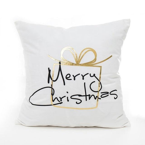 Gold Christmas Gift Cushion Cover - Fancier Living