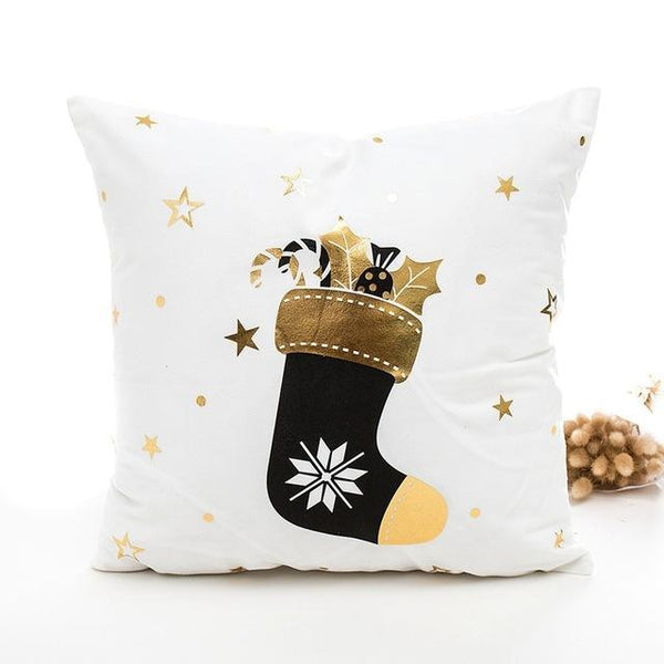 Gold Christmas Bells Cushion Cover - Fancier Living