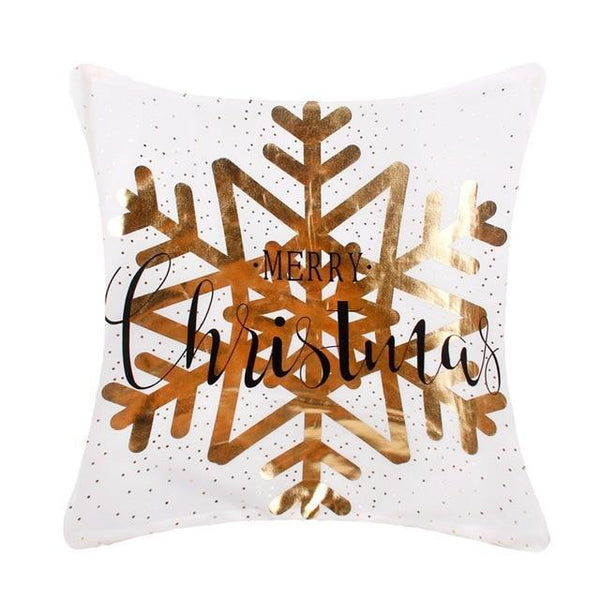 Gold Snowflake Cushion Cover - Fancier Living