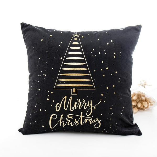 Gold Christmas Tree Cushion Cover - Fancier Living