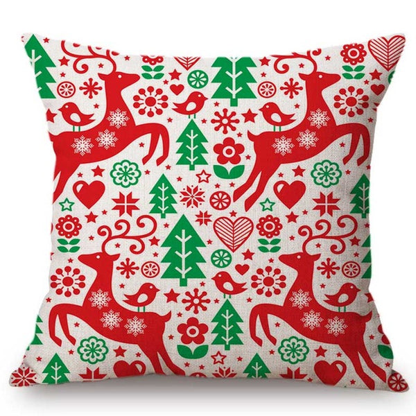 Large Reindeer Christmas Cushion Cover - Fancier Living