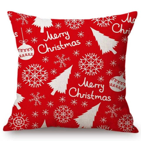 Black and Gold Christmas Tree Cushion Cover - Fancier Living