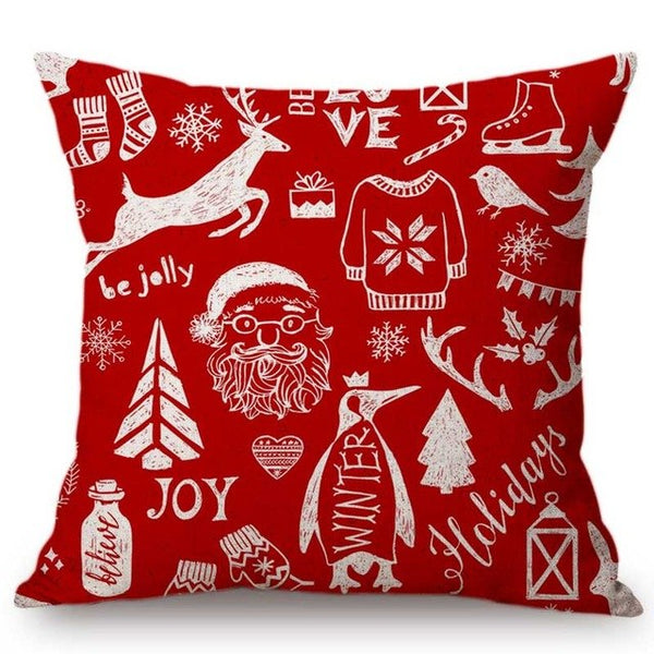 Hearts and Reindeer Christmas Cushion Cover - Fancier Living