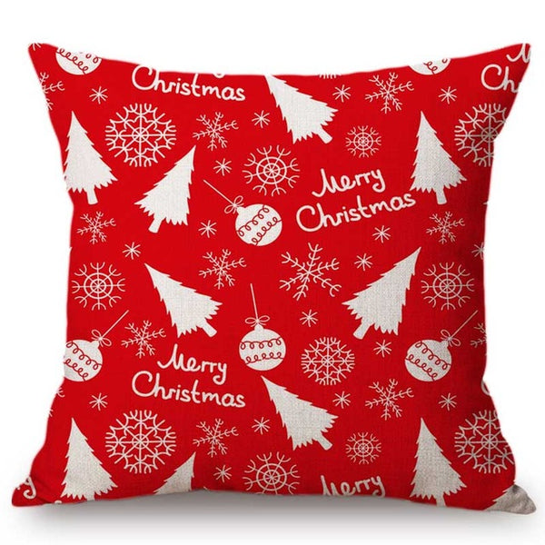 Red and White Snowflake Cushion Cover - Fancier Living