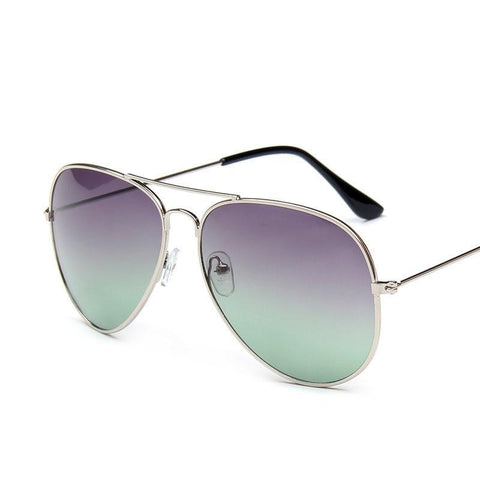 Fashionable Gradient Metal Aviator Sunglasses - Fancier Living