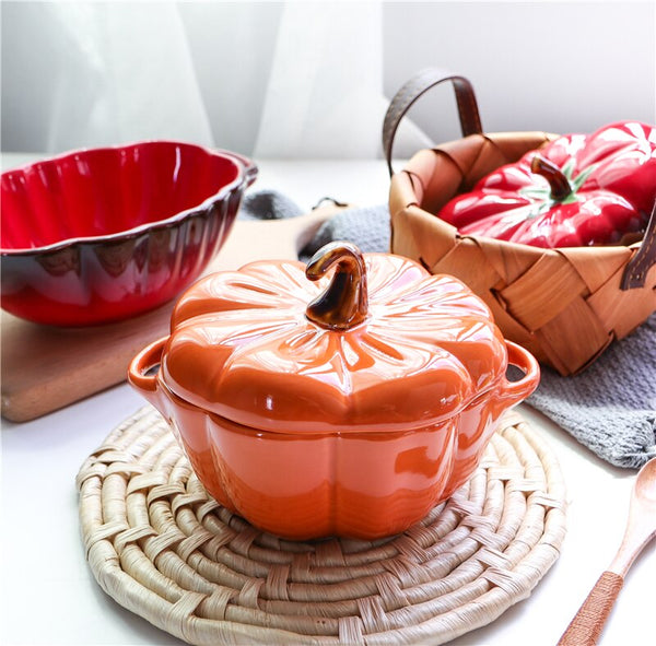 Orange Pumpkin Baking Dish