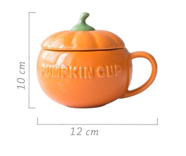 Orange Ceramic Pumpkin Cup