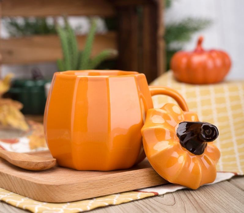 Orange Pumpkin Ceramic Mug