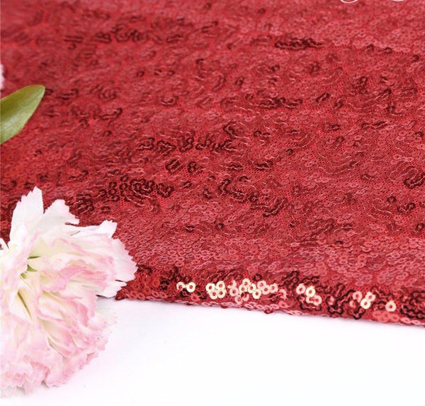 Red Sequin Rectangular Tablecloth