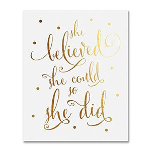 """She Believed She Could So She Did"" Wall Art - Fancier Living"