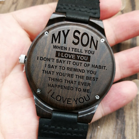 Engraved Watch For Son
