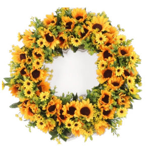 Cheerful Sunflower Wreath