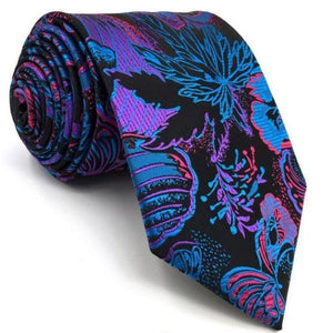 Colorful Blue Abstract Print Tie