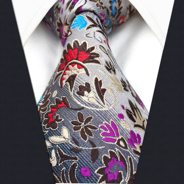 Floral Folk Art Inspired Tie
