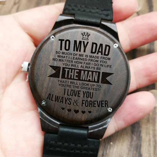 Engraved Watch For Dad