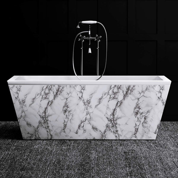 Black & White Marble Self-Adhesive Contact Paper
