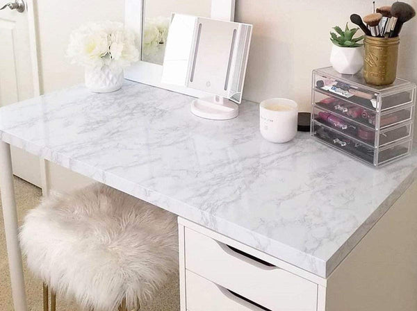 White Marble Self-Adhesive Contact Paper