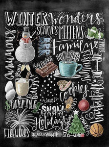 """Winter Wonders"" Chalk Diamond Art Kit - Fancier Living"