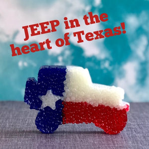Jeep Shaped Texas Flag