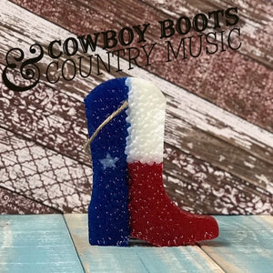 Cowboy Boot Shaped Texas Flag