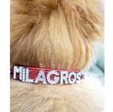 Personalised Dog Name Collar - Green