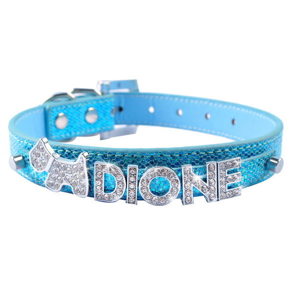 Personalised Cat Name Collar - Blue